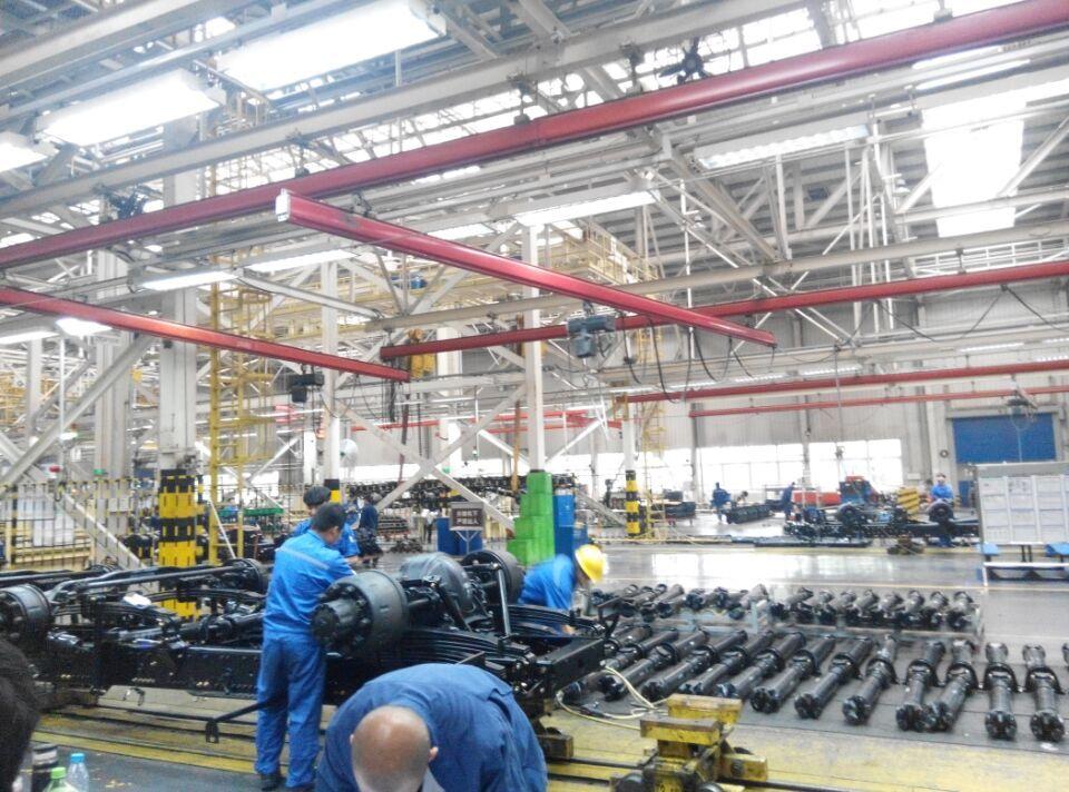 汽车工程系教师到北汽福田汽车工厂看望实习学生